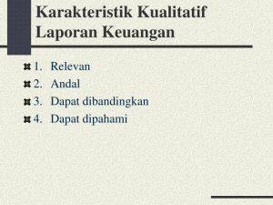 karakteristik kualitatif laporan keuangan menurut iai