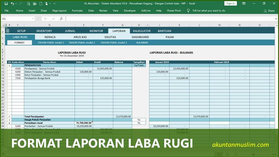 Aplikasi Akuntansi Perusahaan Dagang - Format Laporan Laba Rugi