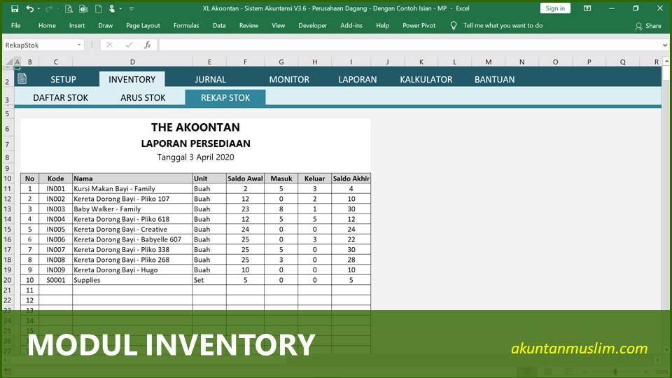 Aplikasi Akuntansi Perusahaan Dagang - Inventory