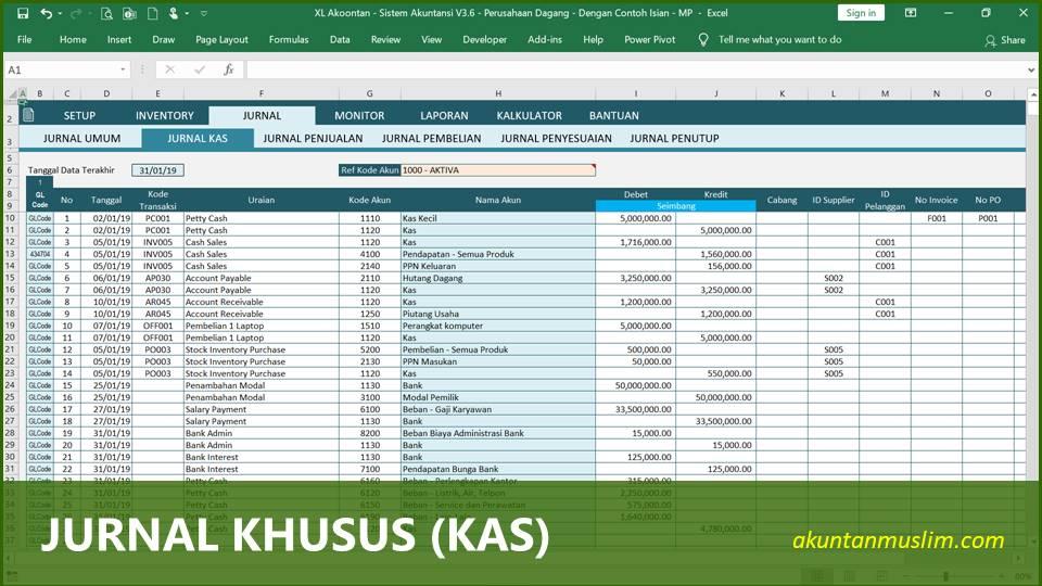 Aplikasi Akuntansi Perusahaan Dagang - Jurnal Khusus