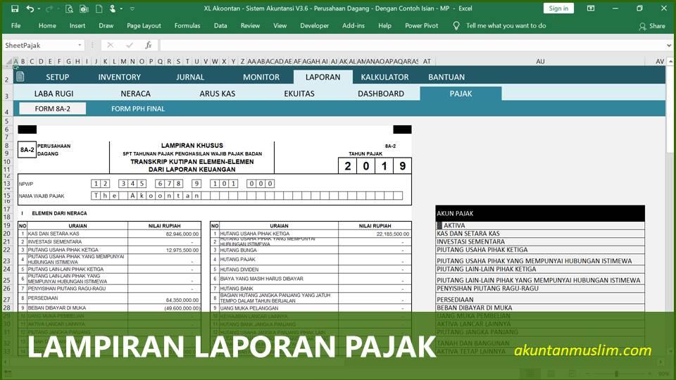 Aplikasi Akuntansi Perusahaan Dagang - Lampiran Pajak