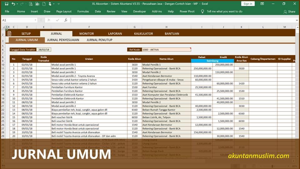 Aplikasi Akuntansi Perusahaan Jasa - Jurnal Umum