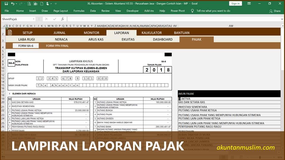 Aplikasi Akuntansi Perusahaan Jasa - Lampiran Pajak
