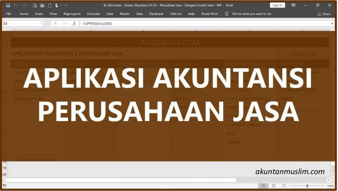 Aplikasi Akuntansi Perusahaan Jasa - akuntanmuslim